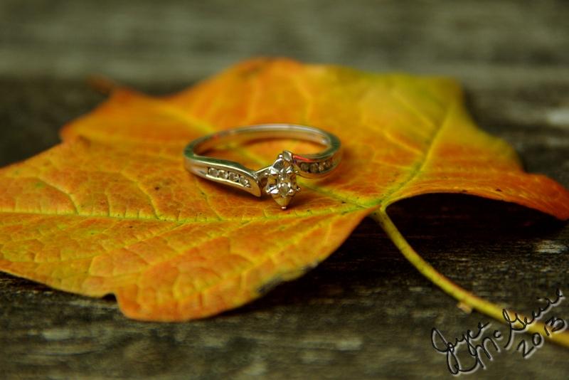 Ring on leaf