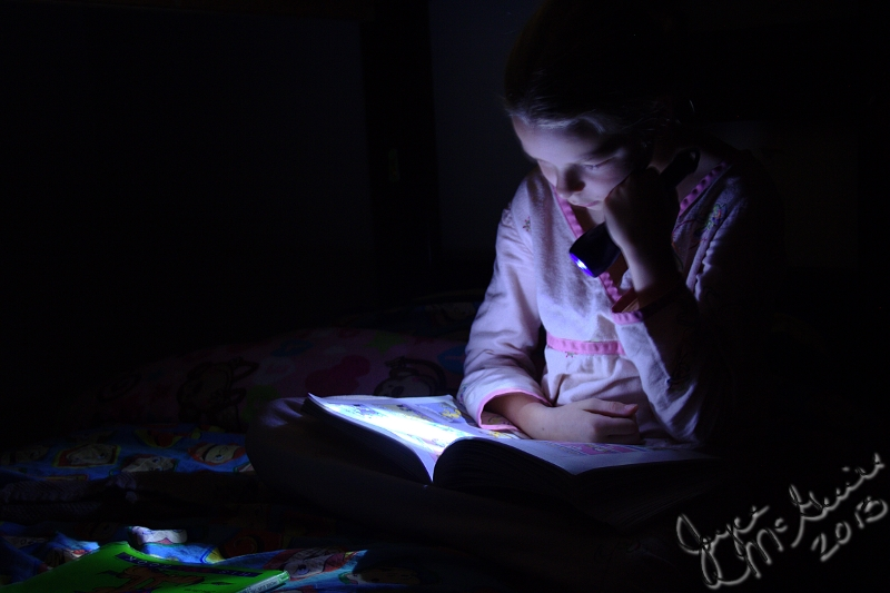 Audrey reading
