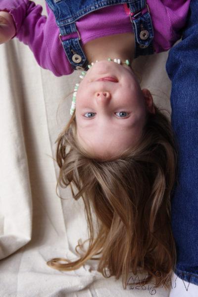 Megan self portrait upsidedown